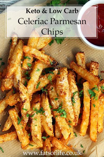 Celeriac Parmesan Chips (Keto)