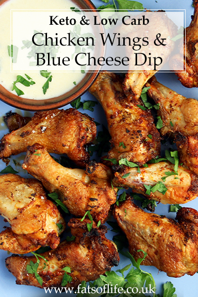 Chicken Wings with Blue Cheese Dip (Keto)