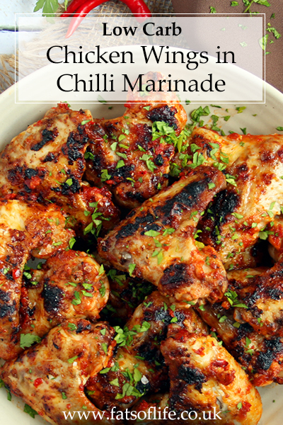 Chicken Wings in Chilli Marinade (Low carb)