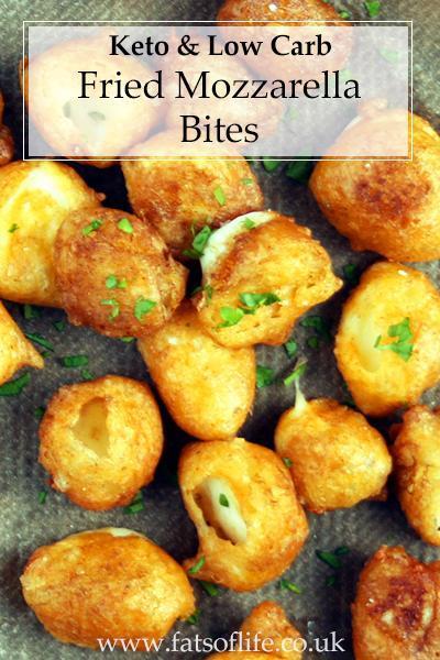 Fried Mozzarella Bites (Keto)