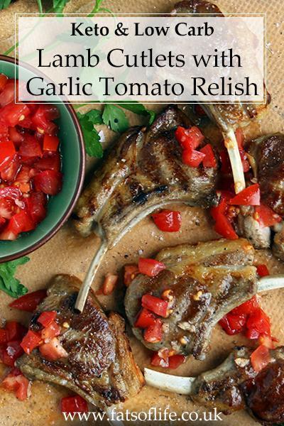 Lamb with Fresh Tomato & Garlic Relish (Keto)