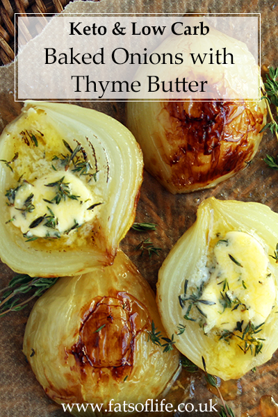 Baked Onions with Thyme Butter (Keto)