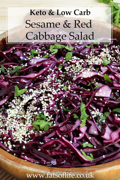 Sesame Red Cabbage Salad (Low carb)