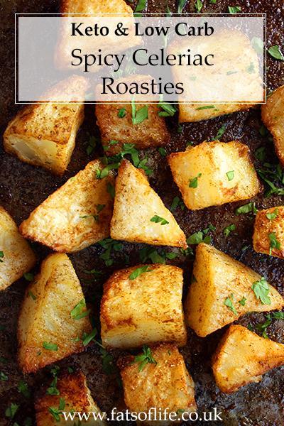 Spicy Celeriac Roasties (Keto)