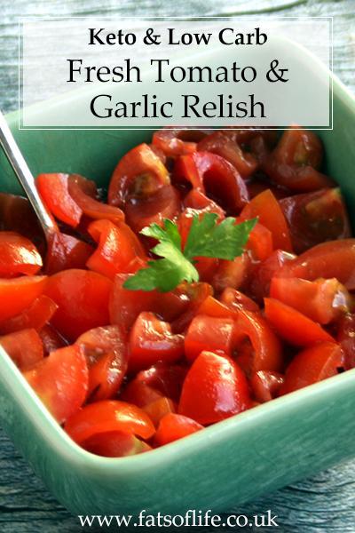 Fresh Tomato and Garlic Relish (Keto)