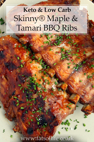 BBQ Ribs in Tamari & Skinny® Maple Syrup (Low carb)