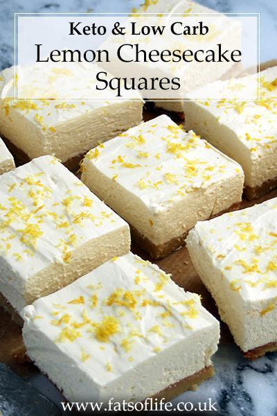 Lemon Cheesecake Squares (Keto)