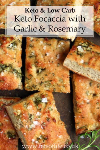 Keto \'Focaccia\' with Garlic & Rosemary