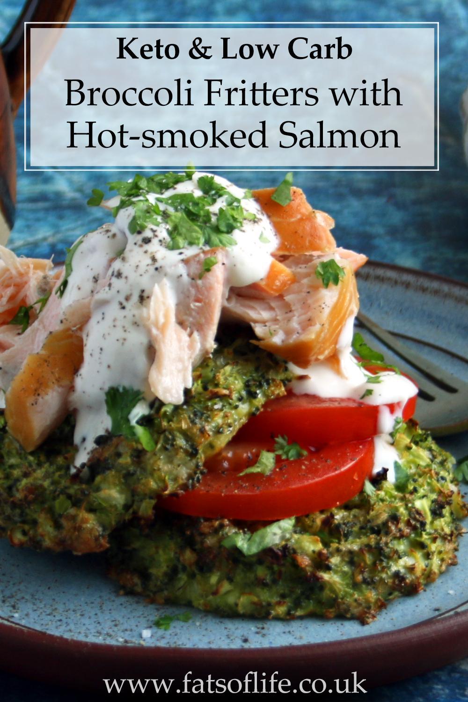 Broccoli Fritters with Hot-smoked Salmon & Sour Yogurt