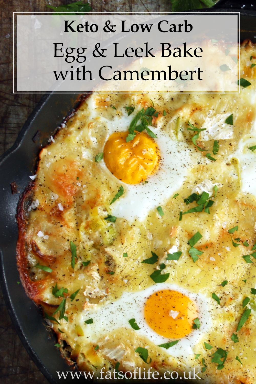 Egg and Leek Bake with Camembert (Keto)