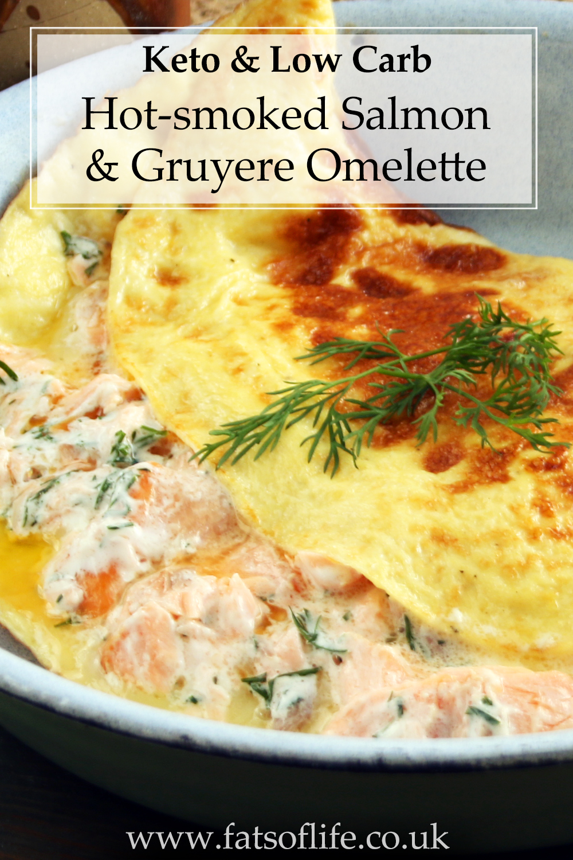 Hot-smoked Salmon Omelette (Keto)