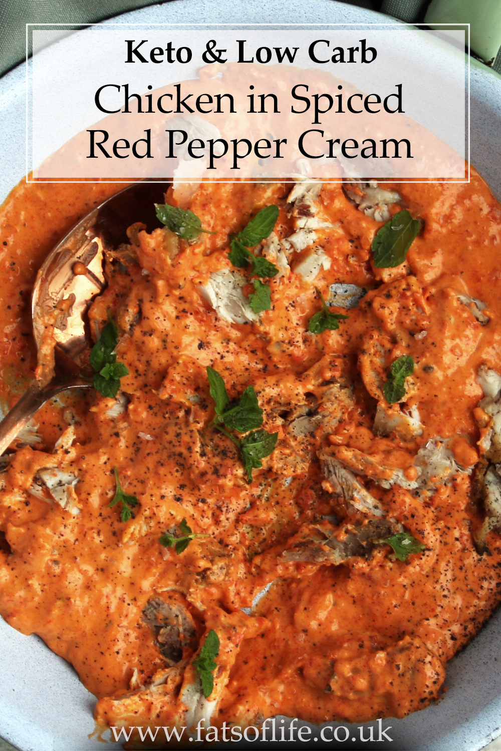 Chicken with Spiced Red Pepper Cream (Keto)