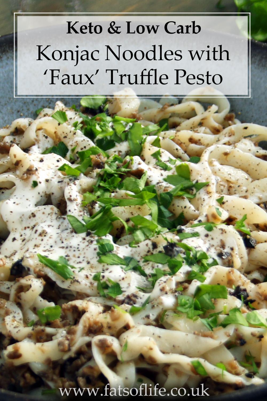 Konjac Noodles with \'Faux\' Truffle Pesto