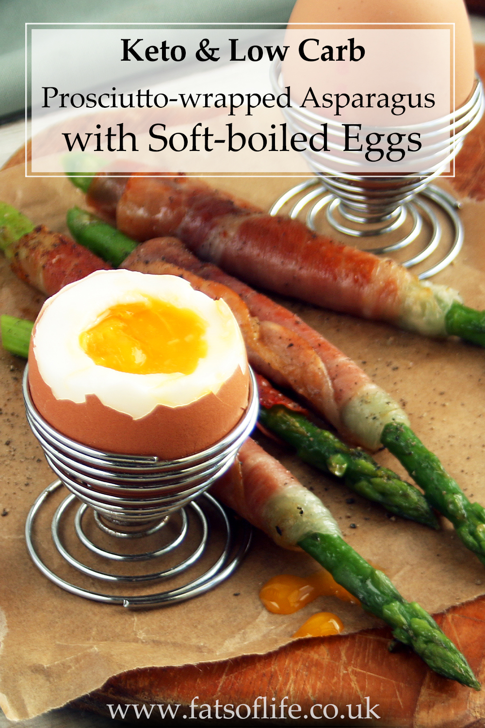 Prosciutto-wrapped Asparagus with Soft-boiled Eggs