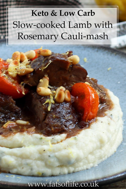 Slow-cooked Lamb with Rosemary Cauli-mash