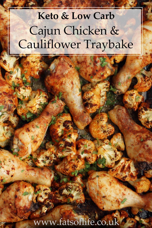 Spicy Cajun Chicken and Cauliflower Tray Bake