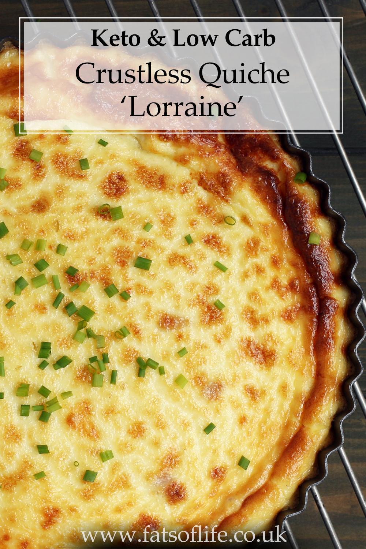 Crustless \'Quiche Lorraine\'