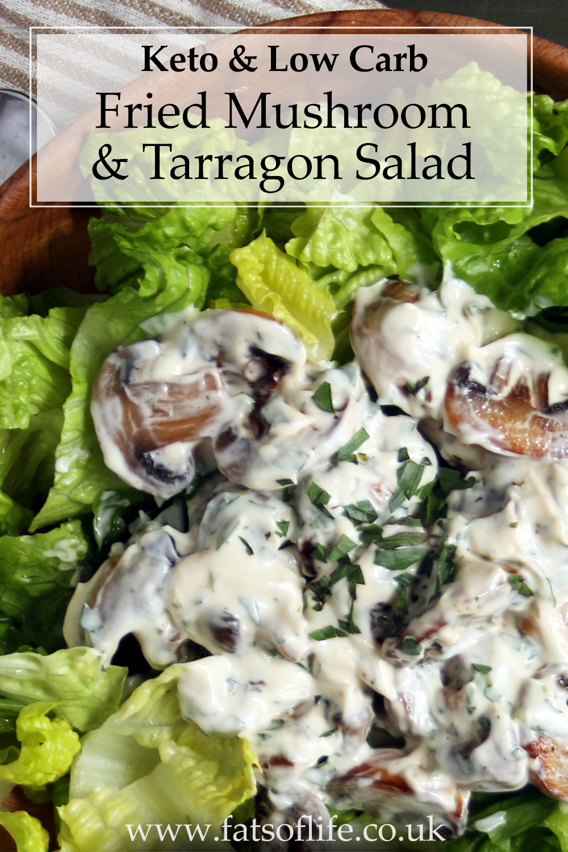 Fried Mushroom & Tarragon Salad
