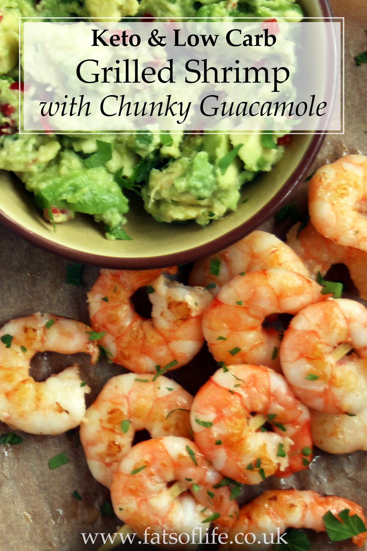 Shrimp with Chunky Guacamole