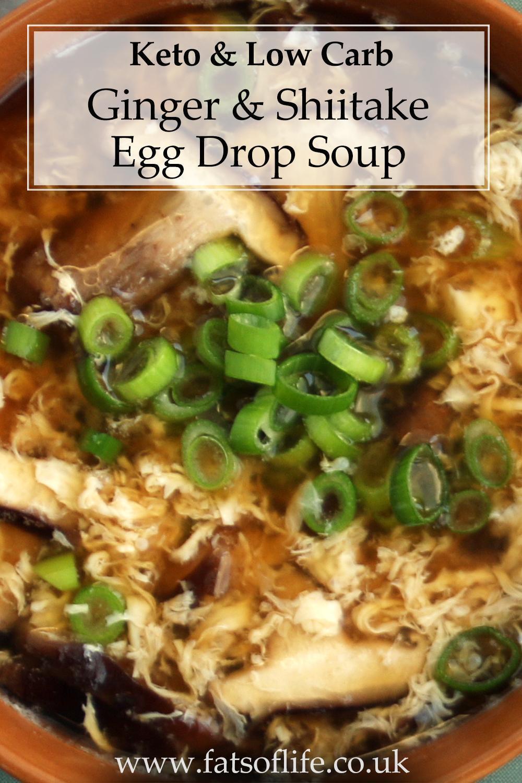 Ginger & Shiitake Mushroom Egg Drop Soup