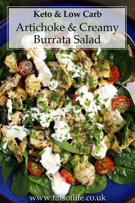 Artichoke & Creamy Burrata Salad